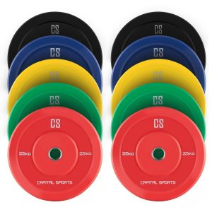 CAPITAL SPORTS Nipton Bumper Plates 5er Set