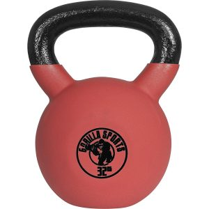 Gorilla Sports Red Rubber Kettlebell